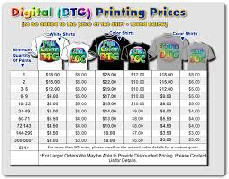 Full Color T Shirt Printing Price List InstaShirt