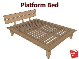Platform Bed Plans Sketchup File Matt s Basement Workshop