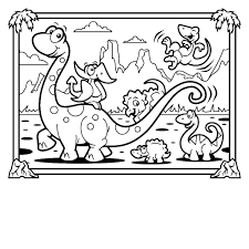 Coloring Pages Dinosaurs Kids Free Printable