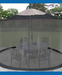 Mosquito Netting For 11 Patio Umbrella by Mosquito Net Canopy Patio Nucleus Home