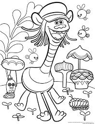 Dibujos Sin Colorear Dibujos De Personajes De Trolls Para Salle De