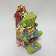 100 King Of The Frogs Ribbit Camelot Figurine Statue Sitting In Throne Hamilton