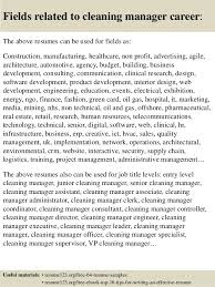 16 Fields Related To Cleaning Manager