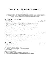 Sample Resume For Truck Driver With Experience Also Position Amazing Ideas Trucking To Prepare