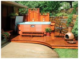 Patio And Deck Ideas For Small Backyards by Landscaping Ideas Small Yard Tub Backyard Designs With Tubs