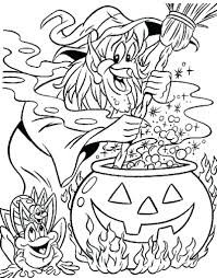 Free Coloring Pages Online For Adults Printable Halloween Middle Schoolers Kids Scary Full Size
