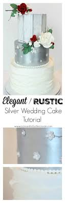 Elegant Rustic Silver Wedding Cake Tutorial