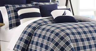 Nautical Crib Bedding by Bedding Set Prominent Navy And White Ticking Bedding Eye
