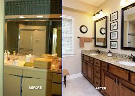 Small Bathroom Remodels Before And After by How To Install Corner Window Curtain Rod Inspiration Home Designs