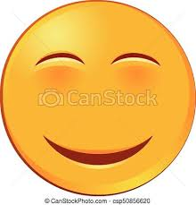 Blushed Smiling Emoji Vector Icon