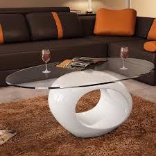 pied de le blanc table basse en verre avec pied blanc laqué achat vente table