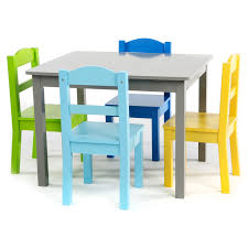 Shop Elements 5-Piece Wood Kids Table & Chairs Set In Grey/Multi ... Greek Style Blue Table And Chairs Kos Dodecanese Islands Shabby Chic Kitchen Table Chairs Blue Ding Http Outdoor Restaurant With And Yellow Crete Stock Photos 24x48 Activity Set Yuycx00132recttblueegg Shop The Pagosa Springs Patio Collection On Lowescom Tables Amusing Ding Set 7 Piece 4 Kids Playset Intraspace Little Tikes Bright N Bold Free Shipping Balcony High Cushions Fniture Rst Brands Sol 3piece Bistro Setopbs3solbl The