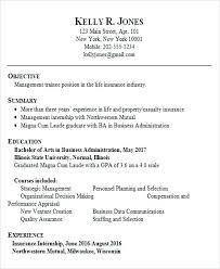 Sample Resume Objectives For Cse Freshers Summary Graduate Business Administration
