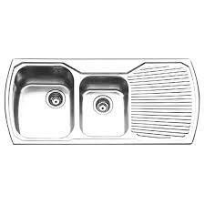 Oliveri Sinks And Taps by Oliveri Mo711 Nth Monet 1 U0026 3 4 Bowl Topmount Sink With Drainer At