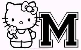 Hello Kitty Alphabet M Coloring Pages
