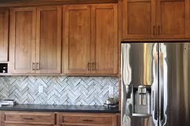 Kitchen Backsplash Ideas With Oak Cabinets by Interior Kitchen Backsplash With Arabesque Tiles Hand Glazed