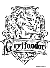 Griffondor Sign With Harry Potter Coloring Pages