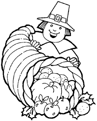Thanksgiving Holiday Coloring Page Sheets Pilgrim