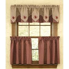 Burlap Kitchen Cabinet Curtains Red Checkered For Sale Sack