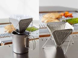 Snow Peak Collapsible Pour Over Coffee Maker Ready To Serve You During Hiking