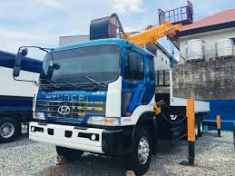 Hyundai Gold 7 Tons Boom Truck Man Lift Basket Included Quezon City ...