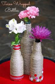 How To Make A Twine Wrapped Bottle Centerpiece