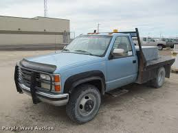 100 Chevy 3500 Truck 1991 Chevrolet Flatbed Pickup Truck Item J2562 SOLD