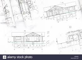 100 Modern Houses Blueprints Rolls Of Blueprints Of New Modern House Architectural Background