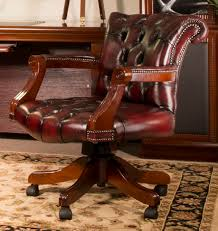Leather Desk Chair With Wheels fortable And Stylish Leather