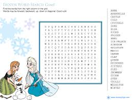 Disney Heroes Wordsearch Frozen