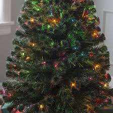 Fiber Optic Christmas Trees Canada by 5 Ft Fiber Optic Evergreen Led Christmas Tree With 16 In Stand