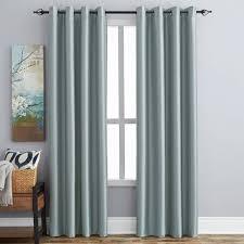 hometrends 63 faux silk room darkening grommet window panel