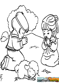 Epic Children Praying Coloring Page 23 With Additional Pages Online
