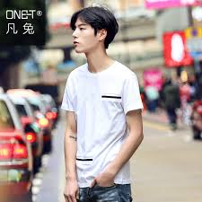 Where The Rabbit Mens 2016 Korean New Summer Fashion Trend Of Young Men Clothes T Shirt Short Sleeve