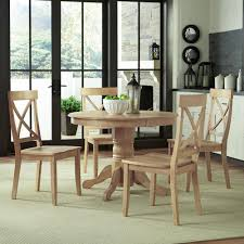 White Wash Wood X Back Dining Chair Set Of 2