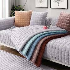 herbst winter weichen plüsch sofa abdeckung verdicken