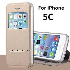 for Apple iPhone 5C cases Stent TPU leather Flip case Window