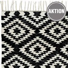 teppich läufer apache kelim 59 schwarz weiß 70x200 cm baumwolle liv interior