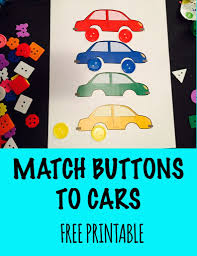 Match Buttons To Cars Free Printable Activities For 2 Year Olds