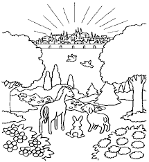 Coloring Page Of New JerusalemEarth And Heaven World Jesus Download