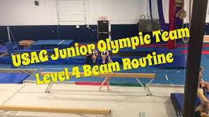 usa gymnastics level 4 beam routine for lefties 2017 usag