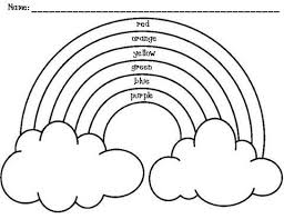 Pretty Ideas Rainbow Coloring Page With Color Words Airplane