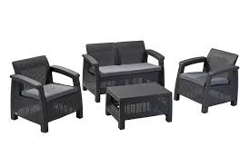 Keter Rattan Lounge Chairs by Amazon Com Keter Corfu 4 Piece Set All Weather Outdoor Patio