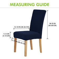 100 Wooden Dining Chair Covers Amazoncom Deconovo Universal Strench Navy Blue