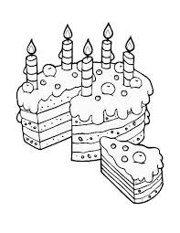 Birthday Cake Slice For Mom Coloring Pages