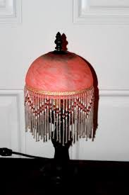 Antique Hurricane Lamp Globes by Antique Art Deco Beaded Marbled Glass Lamp Shade Circa 1930s