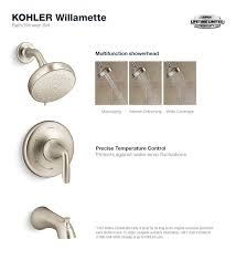 Kohler Kelston Tub Faucet by Kohler Willamette Single Handle 3 Spray Tub And Shower Faucet In