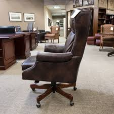 Used Hooker Leather Executive fice Chair Brown CHE1538 003
