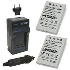 Wasabi Power Battery 2 Pack and Charger for Nikon EN EL5 and