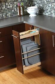 Pull Out Drawers In Kitchen Cabinets Even Better For Cookie Sheets Has Top Storage